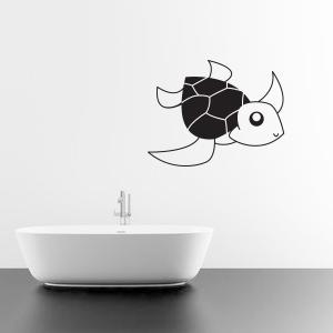 Wallsticker skildpadde til børneværelset