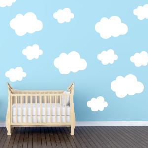 Wallsticker skyer til børneværelset